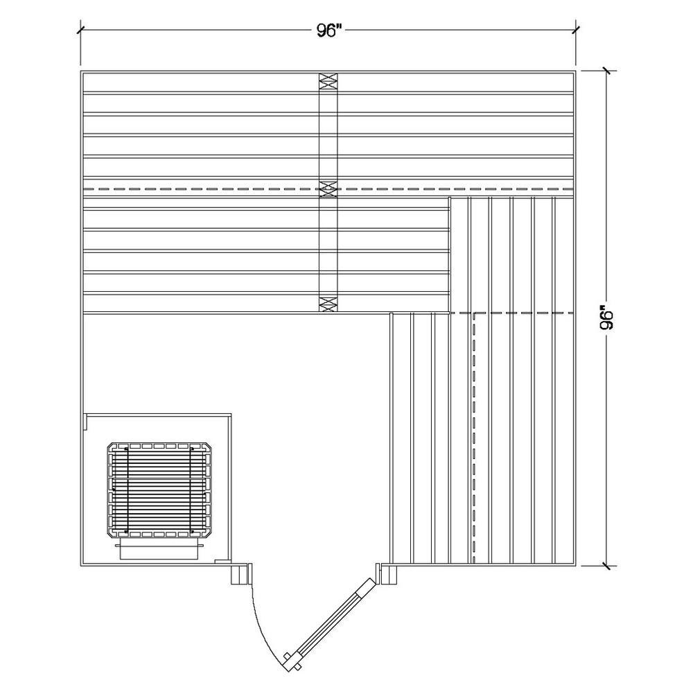 Amerec Sauna And Steam Bathroom Algor Plumbing Heating Supply Wiring Diagram 1488000