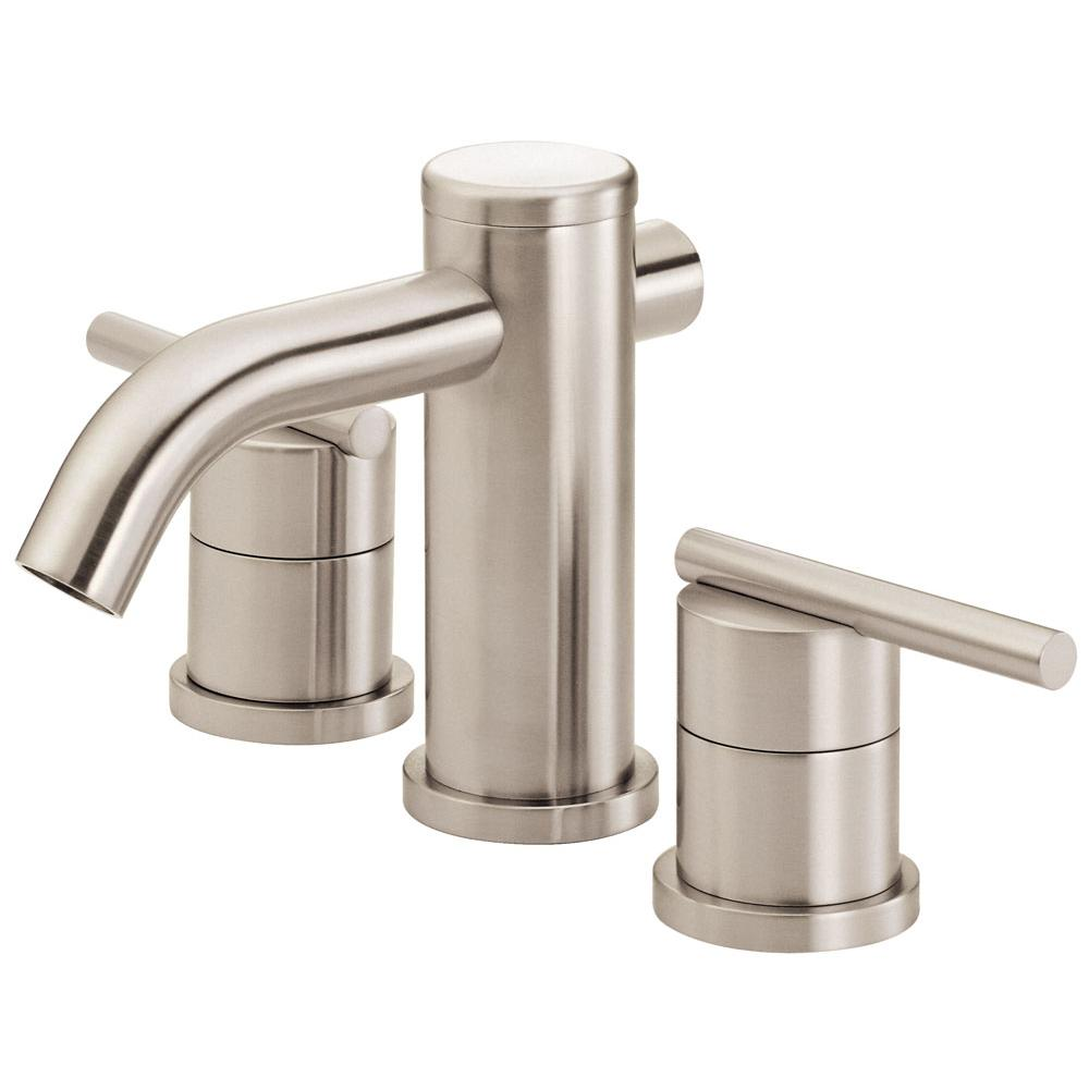Faucets Bathroom Sink Faucets Mini Widespread Nickel Tones | Algor ...