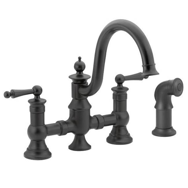 Moen Faucets Kitchen Faucets Bridge Algor Plumbing And Heating - Moen black kitchen faucet